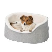 Pets at Home Linen Oval Dog Bed Medium Grey | Pets At Home