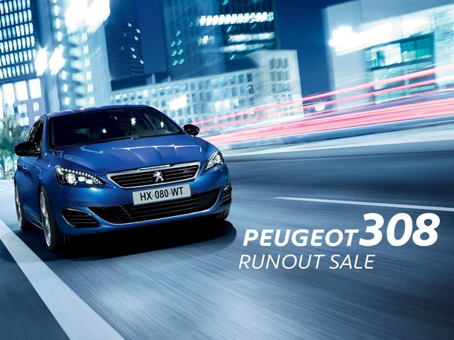 PEUGEOT 308 runout sale now on