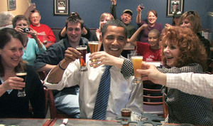Obama in brewpub
