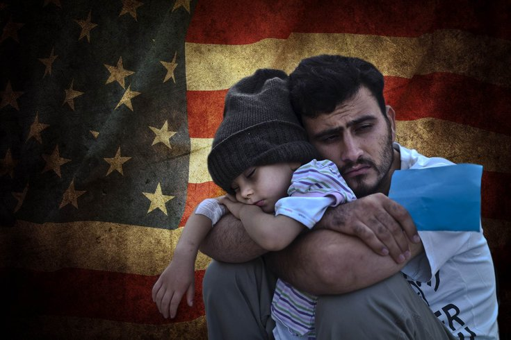 Image result for photo of refugees coming to usa
