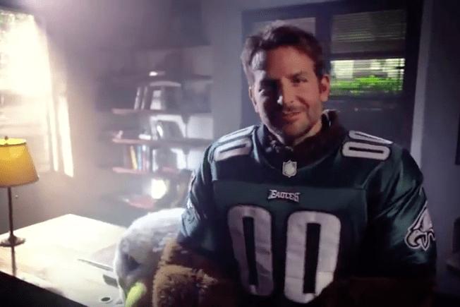 WATCH Bradley Cooper Wears Eagles Mascot Costume In Promo