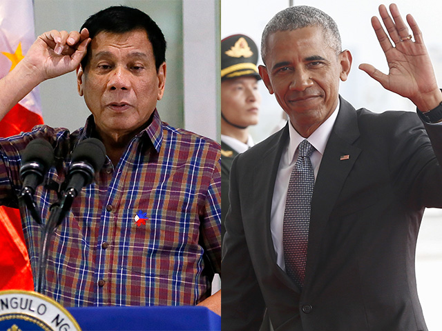 Image result for Rodrigo Duterte + obama
