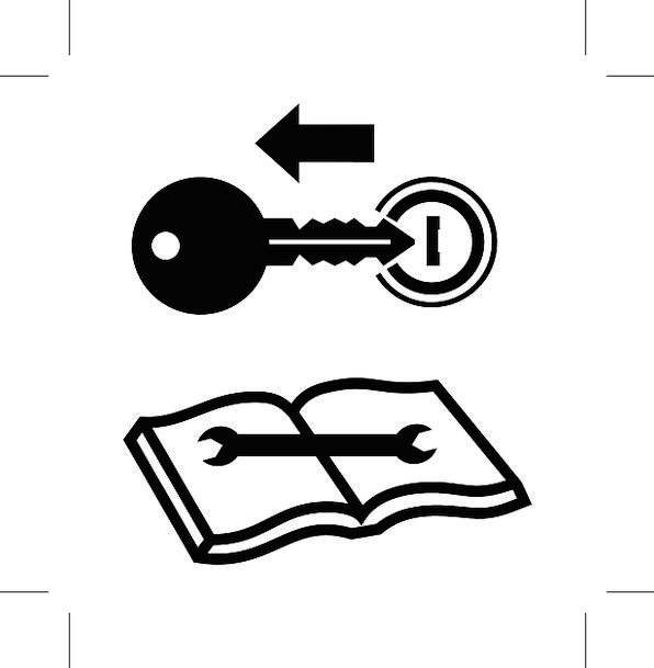 Read Manual First, Important, Lock, Padlock, Key, Icon