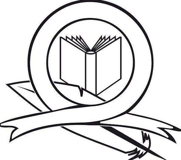 Book, Volume, Ribbon, Band, Logo, School, Feather, Icon