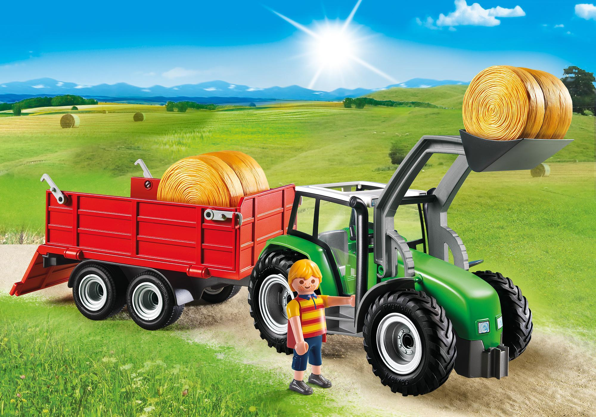 Large Tractor with Trailer