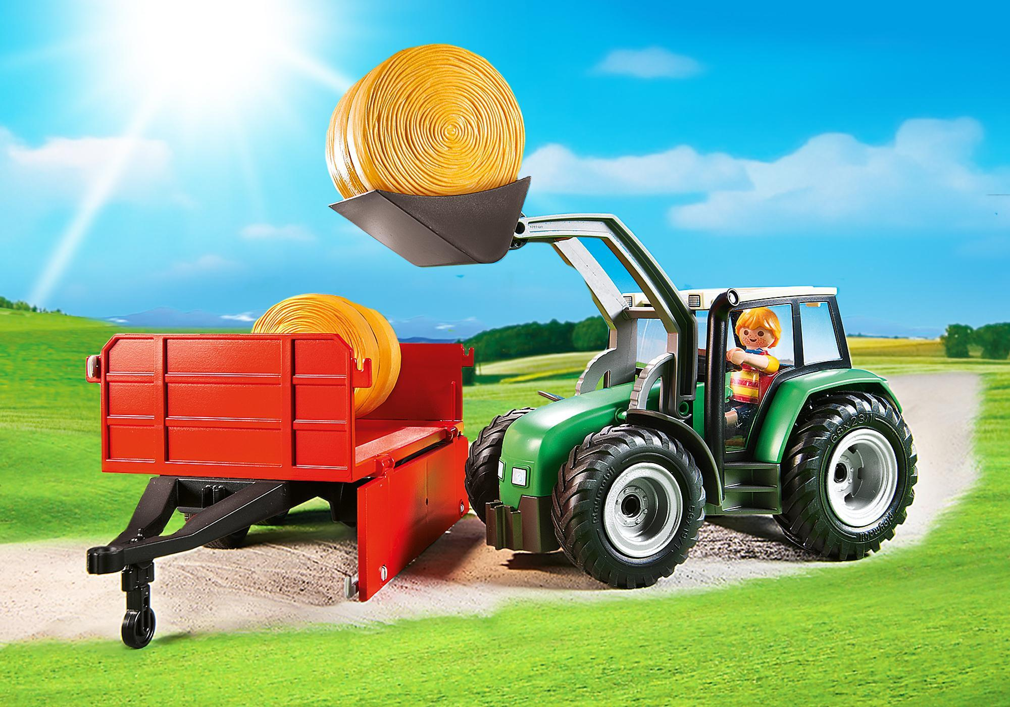 Large Tractor With Trailer - 6130 Playmobil United Kingdom