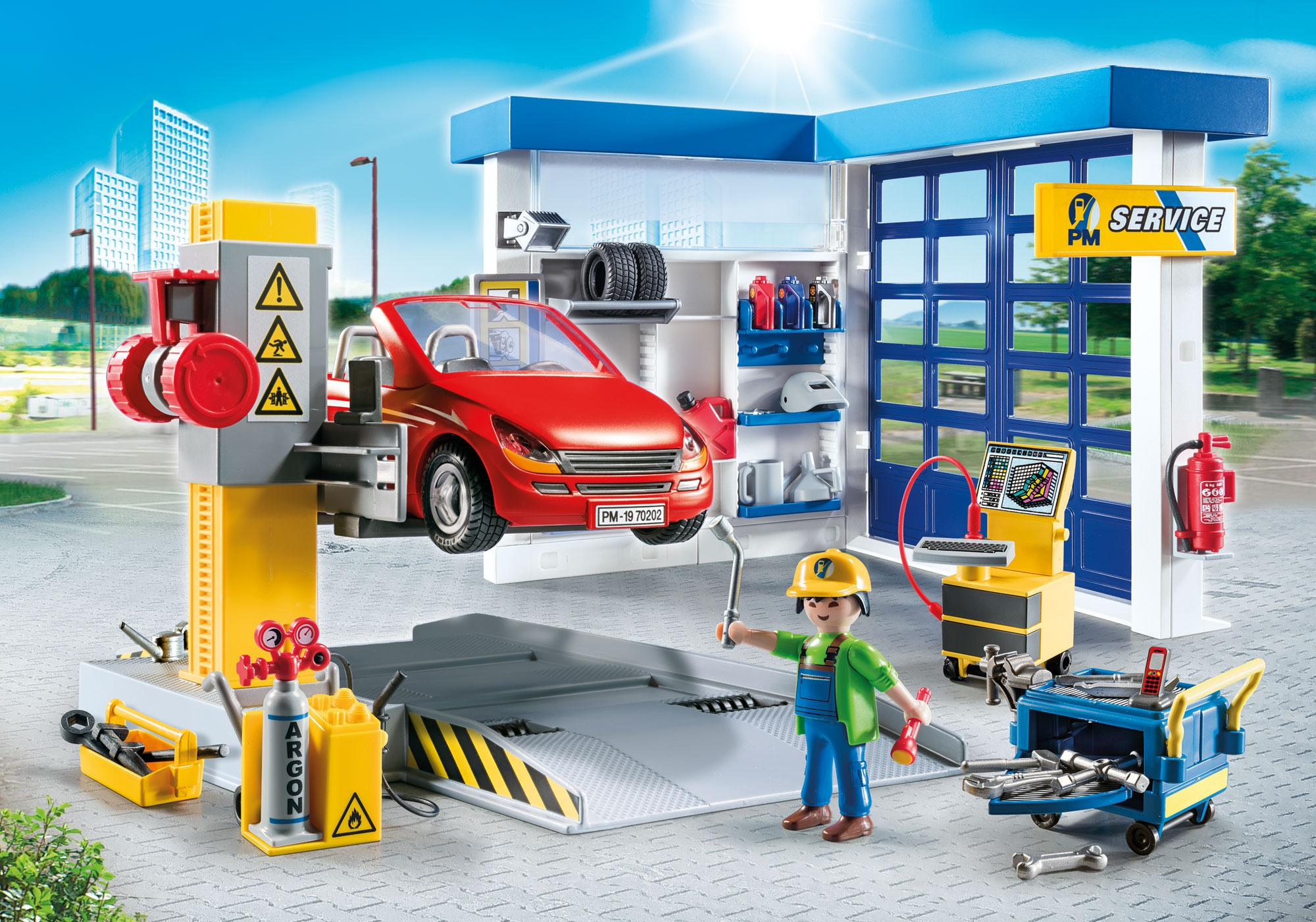 Car Repair Garage 70202 Playmobil Usa