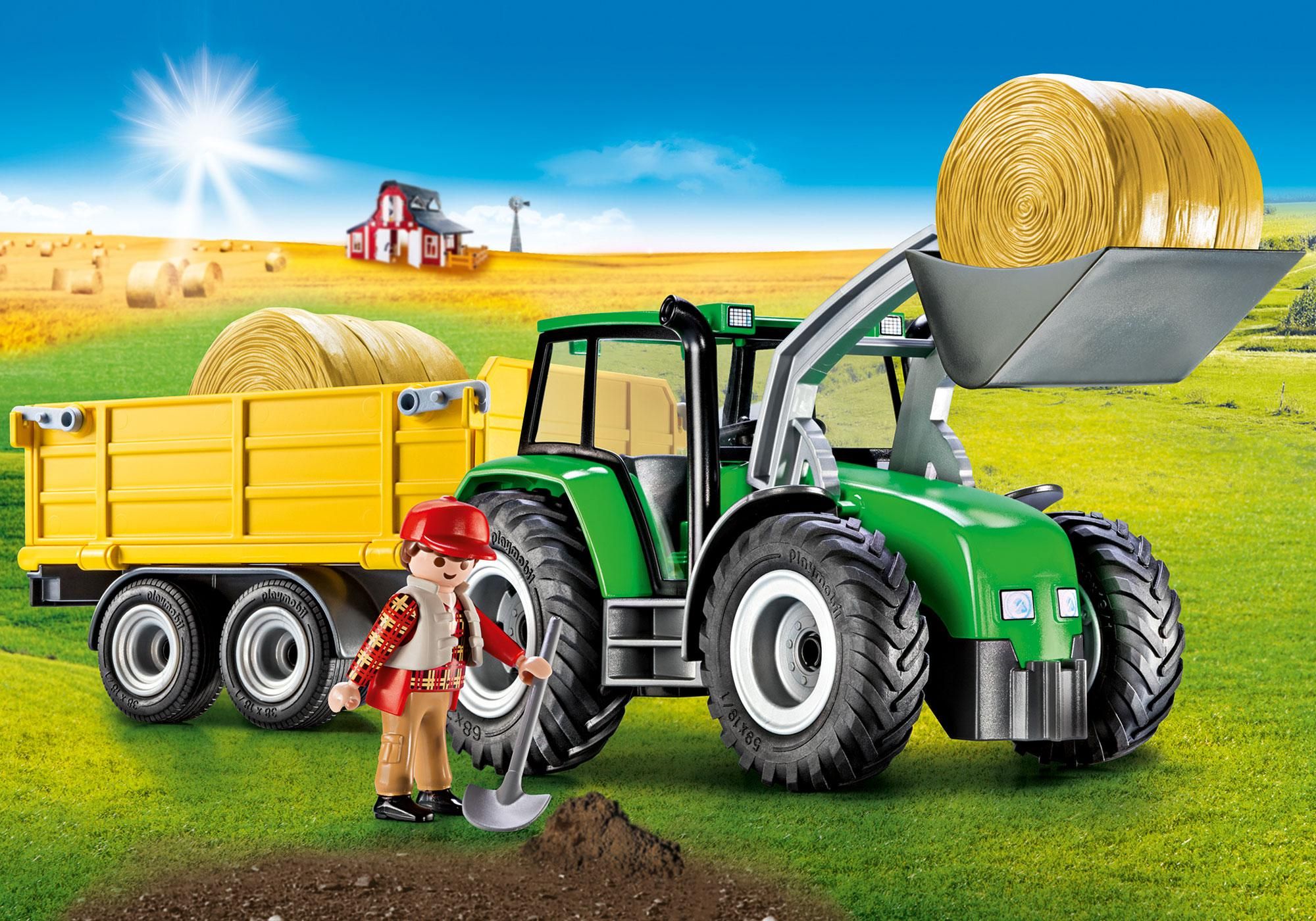 Tractor With Trailer - 9317 Playmobil Usa