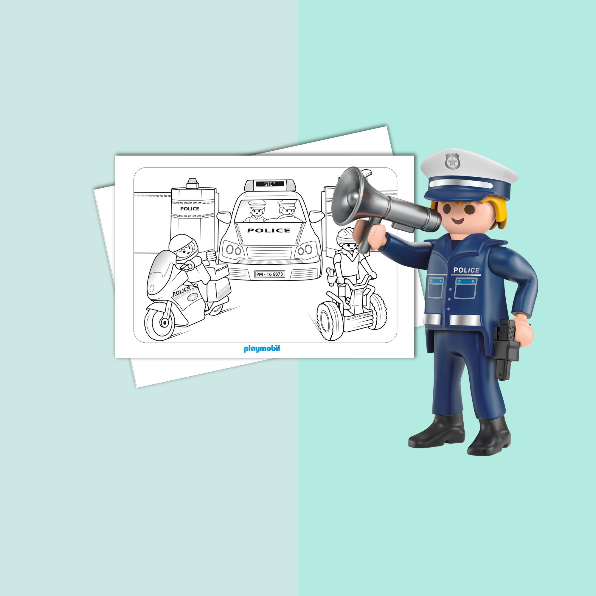 1422 playmobil malvorlage polizei Coloring and Malvorlagan