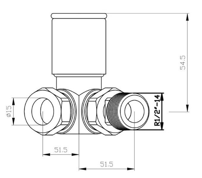 BiWorld Heavy Pattern 15mm Chrome Corner Wheel Head Valve