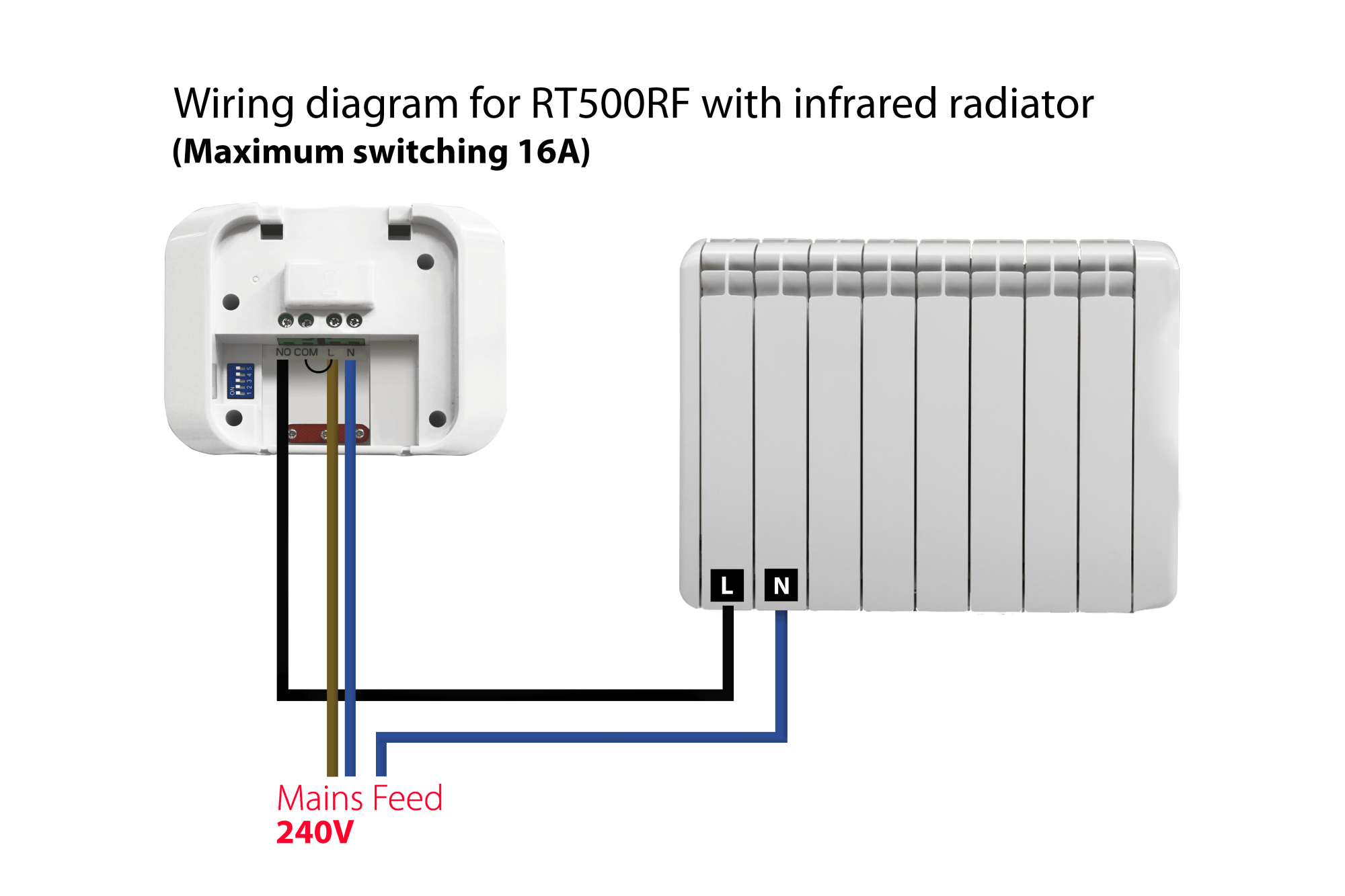 hight resolution of wiring a wireless thermostat receiver my wiring diagram wiring a remote thermostat