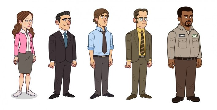 the office somehow we manage characters