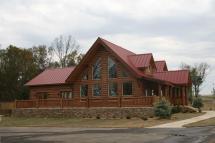 Passive Solar Log Home