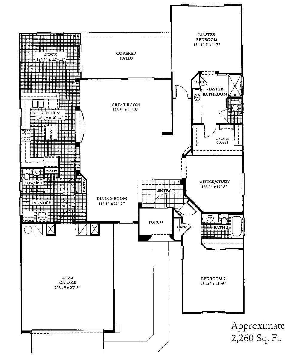 Sun City Grand Mission Floor Plan Del Webb Sun City Grand Floor Plan Model Home House Plans