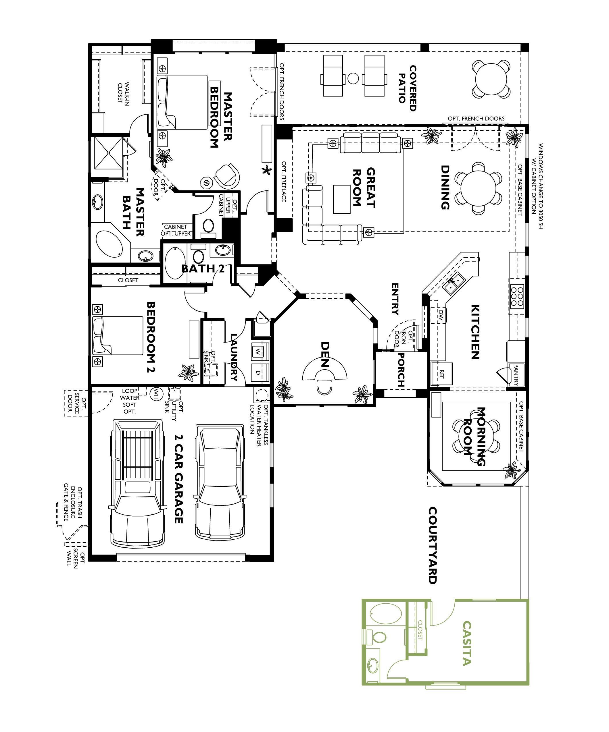 Trilogy At Vistancia Cadiz Floor Plan Model With Casita