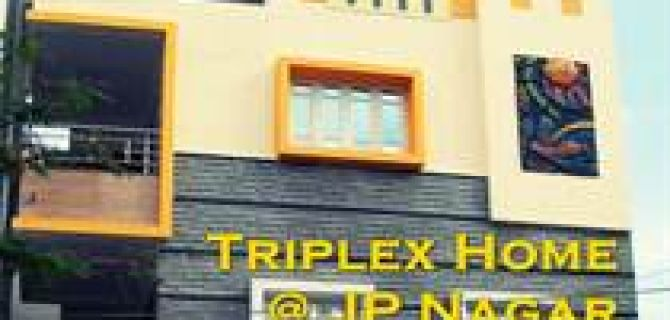 Triplex Designer Highend Home in JP Nagar near Royal Meenaskhi Mall fo sale