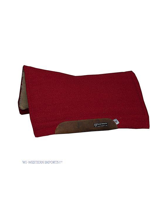 Solid color pad crimson