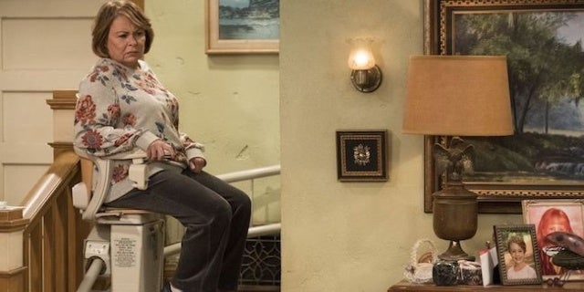 best gaming computer chair white wooden for desk 'roseanne' tries out an elevator in new revival photos