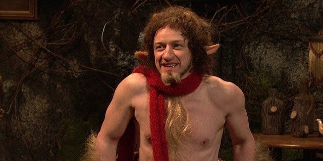 SNL James McAvoy Reprises His Chronicles of Narnia
