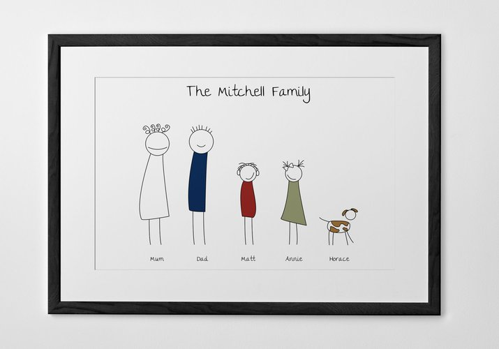 family portrait personalized print