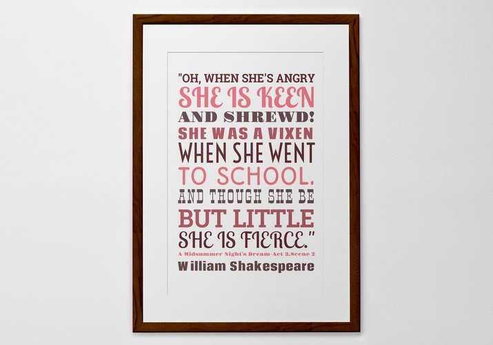 words personalized print poster