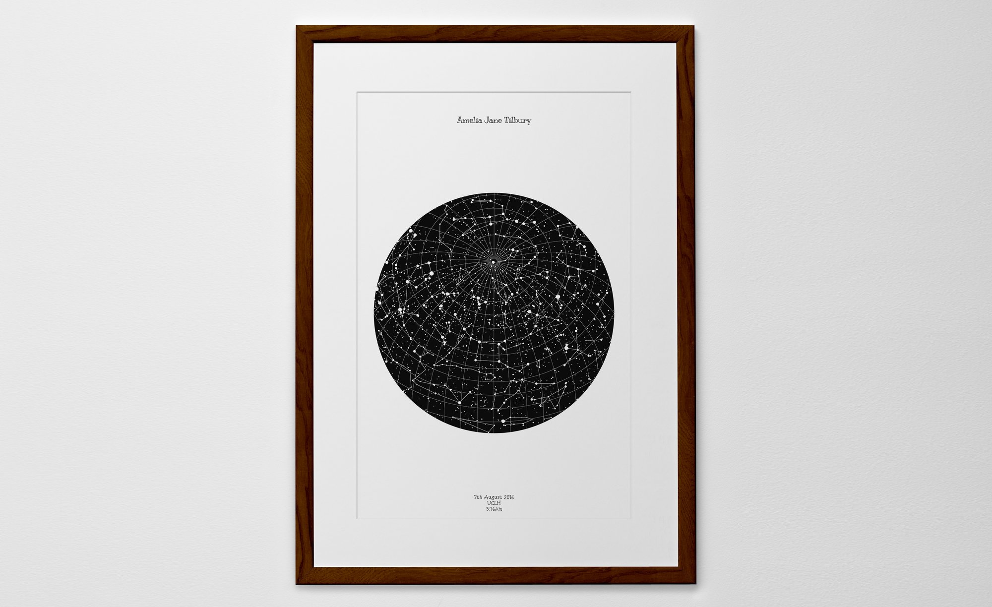 star map personalized print