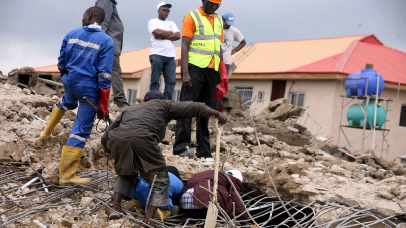 Image result for Two Dead as Four Storey Building Collapsed in Abuja