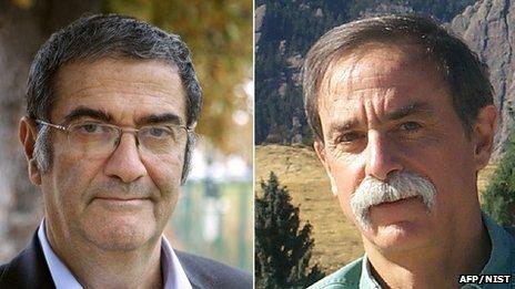 David Wineland and Serge Haroche, the winners