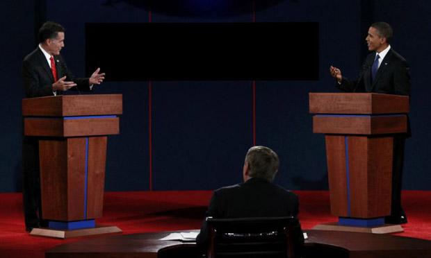 Obama Romney Lehrer Denver debate