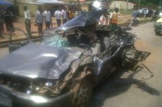 FILE PHOTO: Accident scene in Ogun
