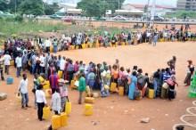 Nigerians queuing for kerosene