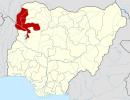 Nigeria map showing Kebbi State
