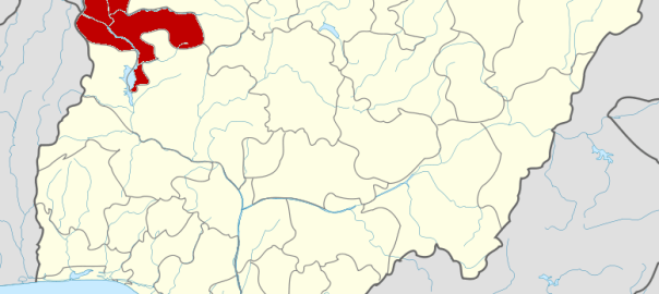 Nigeria map showing Kebbi State