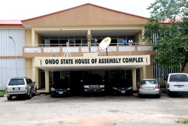 Image result for Police seal Ondo House of Assembly Complex