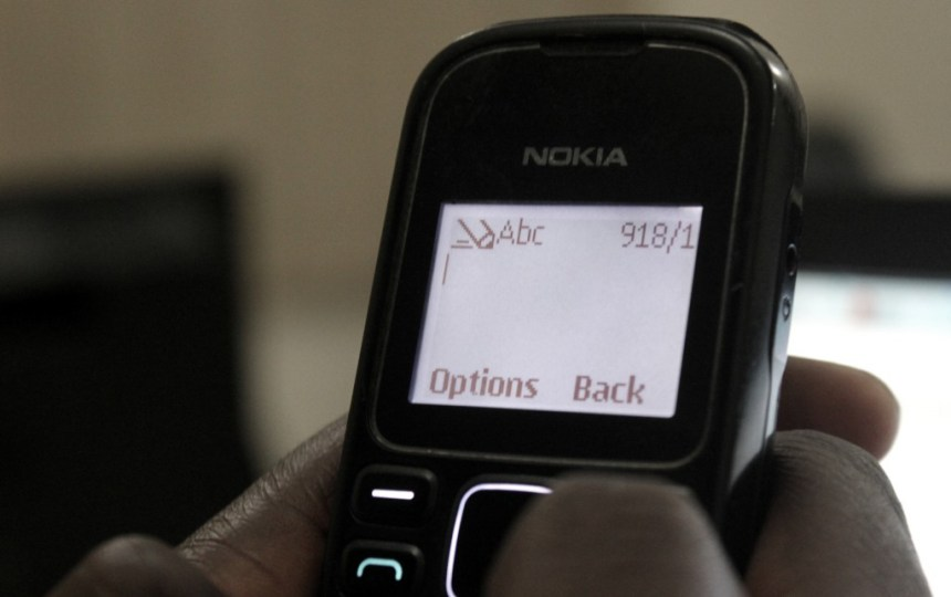 Text message phone