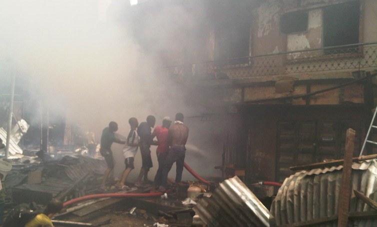 A scene at the Lagos explosion