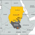 South Sudan on map Photo Credit: voanews.com via google