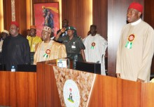 The Federal Executive Council meeting during the rule of Former President Goodluck Jonathan