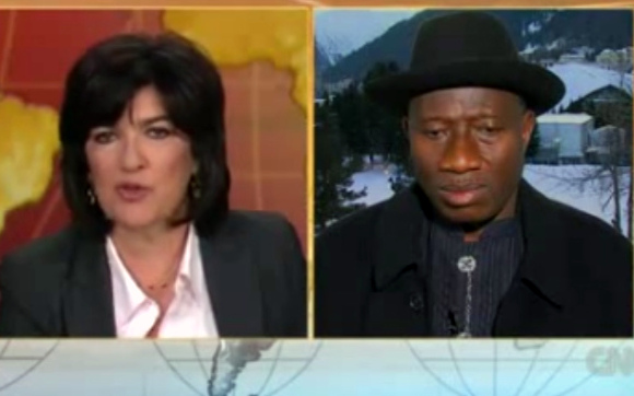 Goodluck Jonathan and Christiane Amanpour