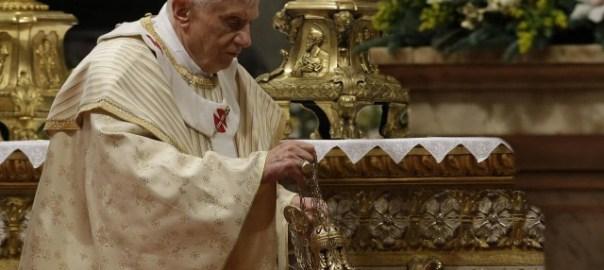 Ex-Pope Benedict XVI stepped down yesterday