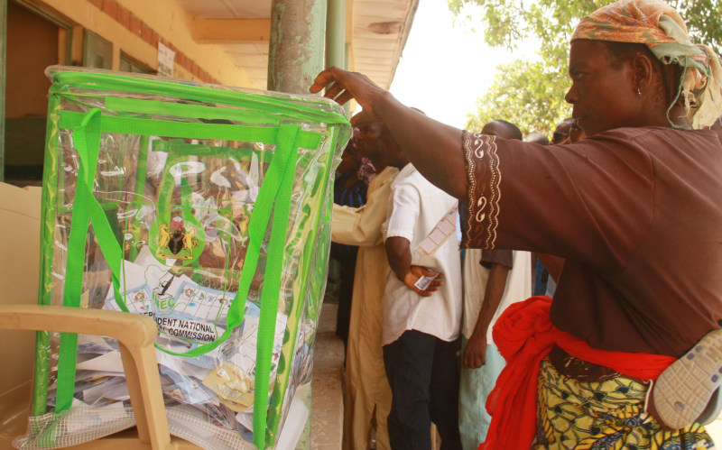 FILE PHOTO: Voters casting their vote (3)