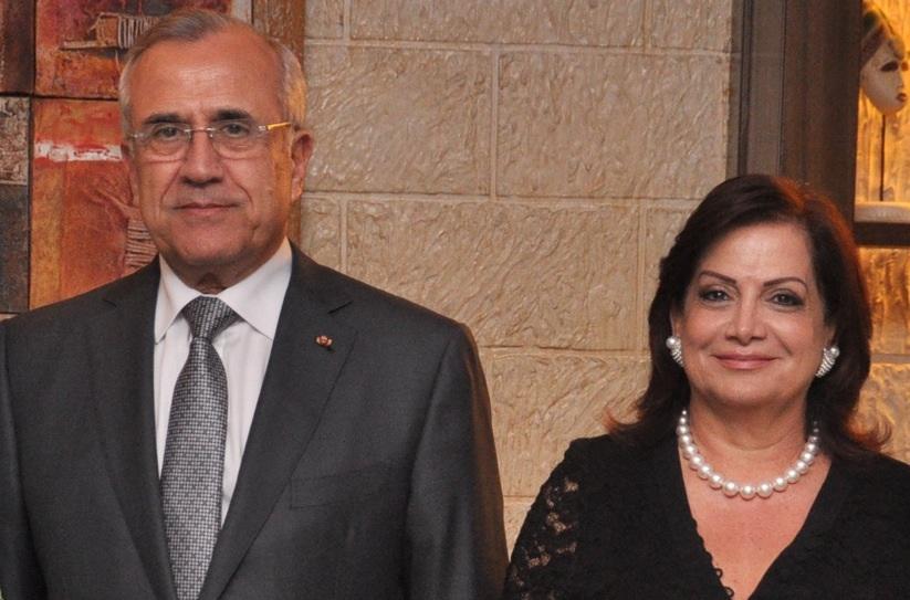 Lebanese president and wife