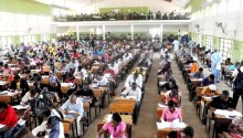 File Photo: JAMB examination in a centre in Abuja