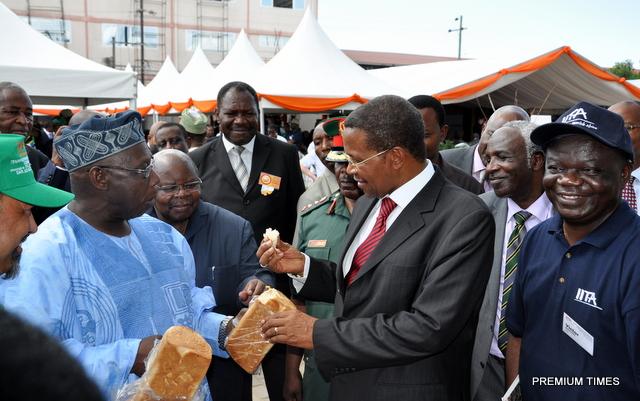 Obasanjo exports cassava bread to Tanzania 5-13-2013 1-52-40 PM