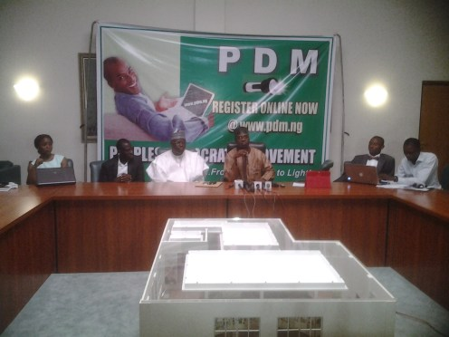National chairman of PDM Bashir Yusuf Ibrahim addressing the media at the event
