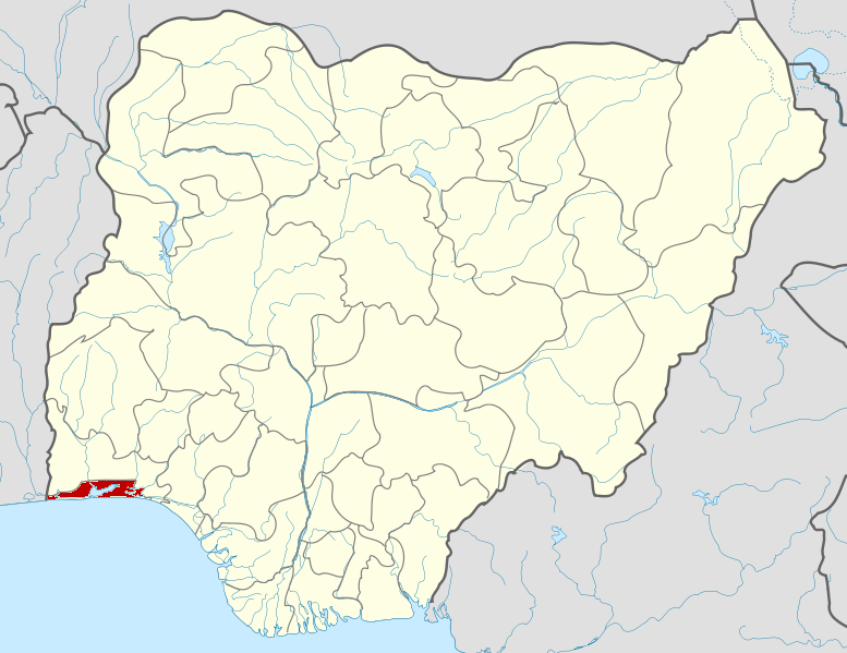 Lagos state on map