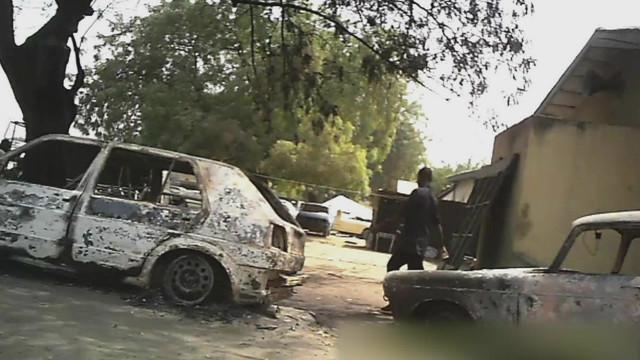 FILE PHOTO: Scene of Boko Haram attack in Nigeria