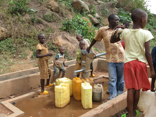 Children Fetching water