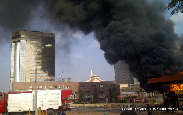 Umrah Banner: Abuja Conoil Fire: Minister Orders Partial Closure Of