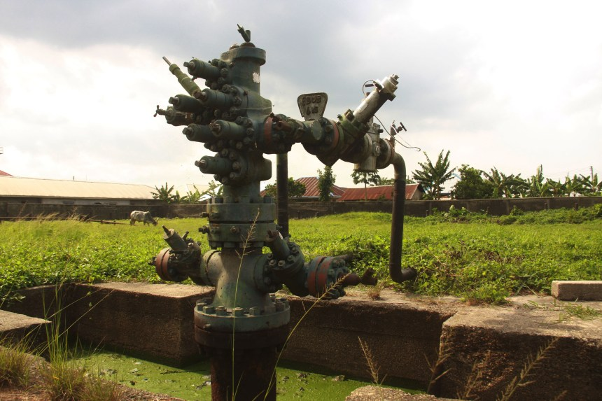 Shell Oil well abandoned since 1993 during the late Ken Saro wiwa struggle